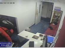 CCTV footage of burglary at Camden mosque