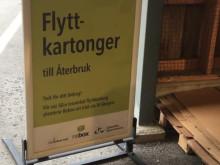 Flyttkartonger kan numera lämnas till återbruk på återvinningscentralen i Gävle