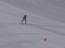 Agnes Brandås, Båsenberga SLK, tränar inför VM i Vars 2019