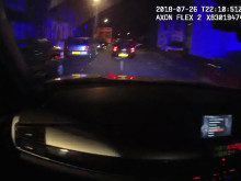 Body worn video from front seat passenger/police car