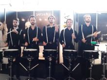 """Die """"Schlagzeugmafia"""" am SINFONIMA Messestand"""