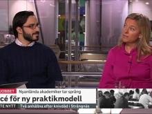 Morgonstudion SVT 2018-02-01 Swedaviamedarbetaren Issam Keseby och Alexandra Ridderstad från Jobbsprånget. Video: SVT