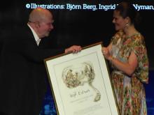 H.K.H kronprinsessan Victoria överlämnar Astrid Lindgren Memorial Award till Wolf Erlbruch