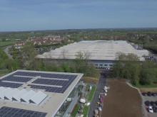 Dyson Headquarter in Malmesbury (UK)  bird's eye view