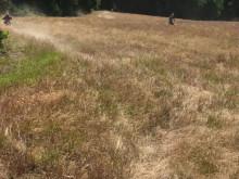 Endurokörning i gräset.