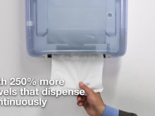 With 250% more towels that dispense continuously