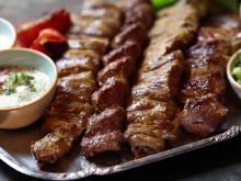 Presentation av maten på Tehran Grill