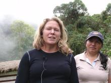 Pella Larsdotter Thiel från föreningen Rädda Regnskog på 3000 meters höjd i molnregnskogen Cambugan!