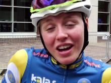 Ida Jansson efter målgång på VM i landsväg i Richmond, USA