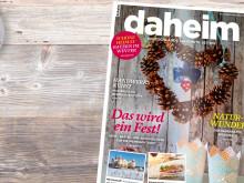 """Magazin """"daheim"""" - Ausgabe November/Dezember 2017"""