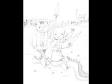 Prinsessan och prinsen, Per Gustavsson tecknar