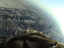 Dubai World Record Eagle Flight - Action Cam - Sony