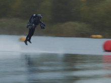Strictly Embargoed GMT: 00:01 Thursday 9th November: Real Life Iron Man Claims Jet Suit Speed Record - A Roll