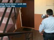 Securitas på kveldsjobb i Oslos kommunale boliggårder