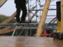 Blåkläder Workwear im Einsatz beim Strong Viking Aufbau