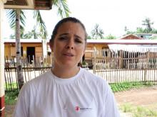 Ylva Sperling berättar om läget för barnen 1 år efter Haiyan