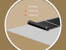 Flexwatt varmefolie er lett å legge.
