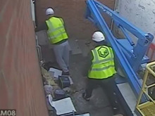 CCTV footage of two men police wish to speak with