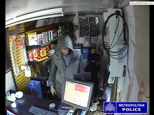 CCTV footage of commercial robbery
