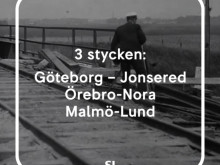 SJ firar 160 år - Tåglinjer
