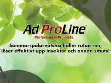 Rena rutor även på sommaren - AdProLine® Sommarspolarvätska!