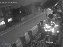 CCTV of robbery and shooting with audio from robbery victim