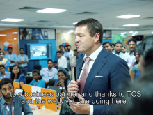 Video - Pieter Elbers, CEO of KLM, visits TCS in India to celebrate 25 years of partnership