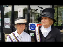 Widney Manor Suffragette display - Jan Hemlin and Jan Tilsley
