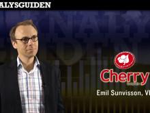Intervju med Cherrys VD, Emil Sunvisson, som kommenterar bolagets utveckling.