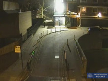 Footage of CCTV of Charlotte walking and defendant cycling away