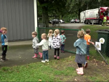 Sopsamlarmonster lär barn att sopsortera