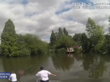 Officers save man from pond