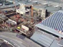 Timelapse - ny avgangshall Oslo lufthavn