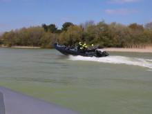 The CXO300 pre-production prototype undergoing tests at Chichester Lakes, UK