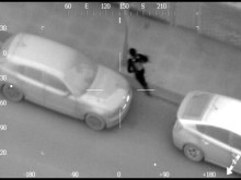 Police pursuit of Gilmaney and Thomas