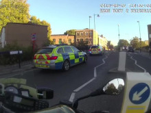 Body worn video of pursuit