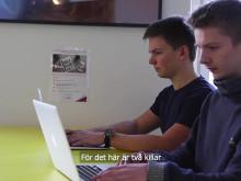 Gustav och Max från Thoren Innovation School Uddevalla skapade nytt dataspel