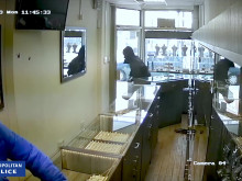 CCTV of the robbery taking place