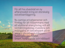 Solar Park Helsingborg vinner Swecos Hugopris 2017