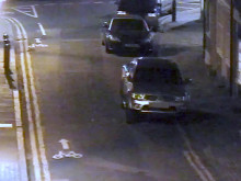 CCTV images showing two moped robbers identifying Danny Pearce as their intended target