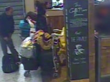 CCTV footage of the defendants stealing a bag at an airport