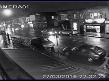 CCTV footage of fail to stop collision