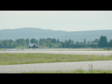 Boeing 737-800 taking off from OSL.