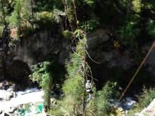 """Die Riesenschaukel """"Giant Swing"""" im Hochseilgarten Ötzi Rope-Park"""