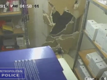 CCTV2 - smashing through security door inside the premises