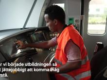 Ahmed Osman gör praktik som lokförarelev på SJ Götalandståg
