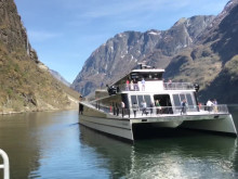 Her set verdas fyrste heilelektriske fartøy avgårde - gjennom ein av verdas vakraste og skjøraste fjordar.