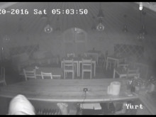 CCTV footage of theft from a yurt