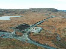 Fra bygging av vei og infrastruktur i Geitfjellet vindpark