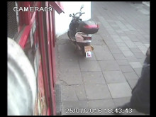 CCTV of assault on Bow Road